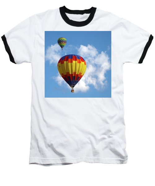 Balloons In The Cloud Baseball T-Shirt by Marie Leslie