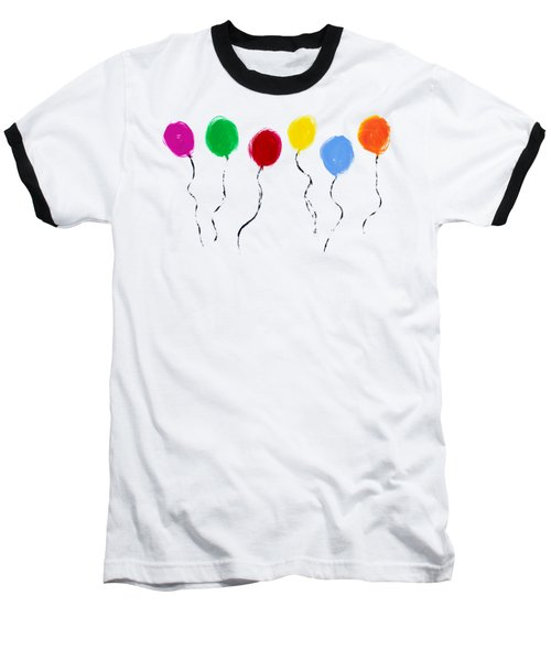 Balloons  Baseball T-Shirt by Tim Gainey