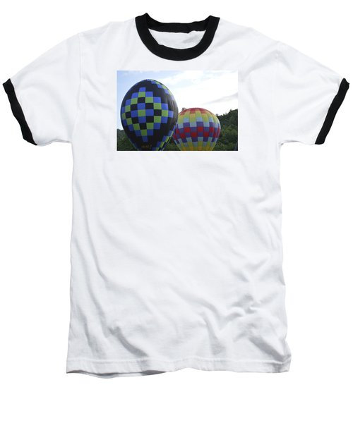 Balloons Waiting For The Weather To Clear Baseball T-Shirt by Linda Geiger