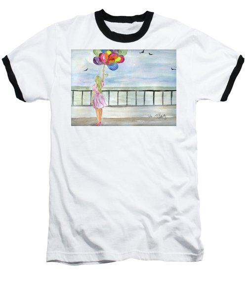 Baloons Baseball T-Shirt by P J Lewis