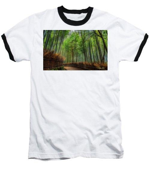 Baseball T-Shirt featuring the photograph Bamboo Path by Rikk Flohr
