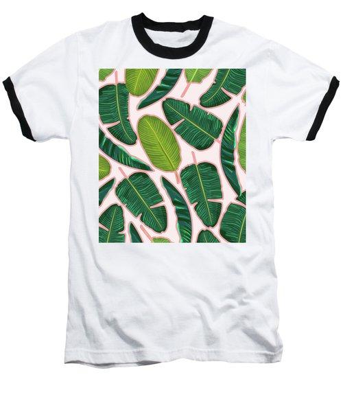 Banana Leaf Blush Baseball T-Shirt