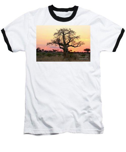Baobab Tree At Sunset  Baseball T-Shirt