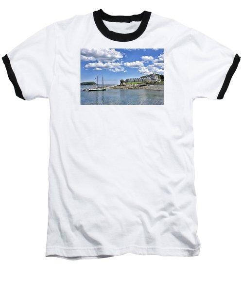 Bar Harbor Inn - Maine Baseball T-Shirt by Brendan Reals