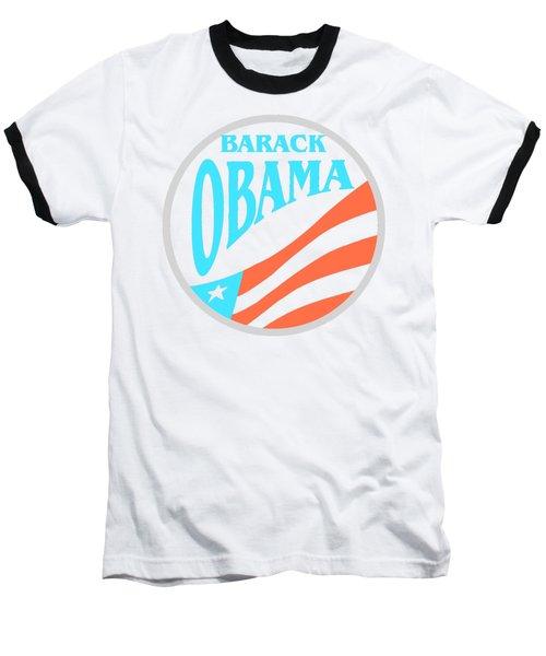 Barack Obama - Tshirt Design Baseball T-Shirt by Art America Gallery Peter Potter