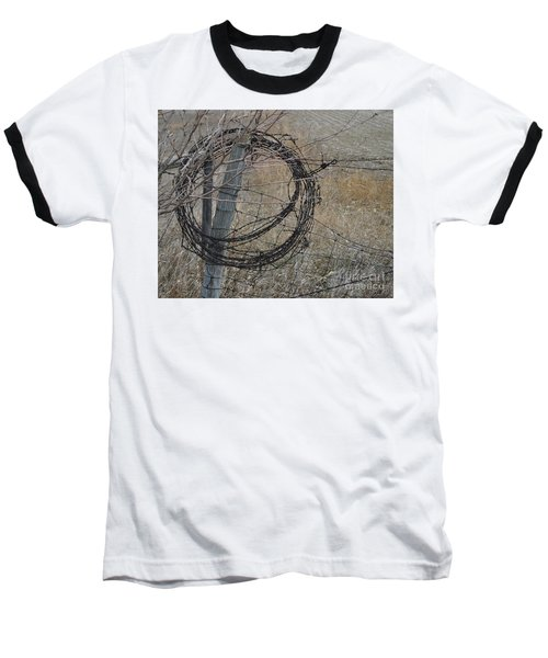 Barbed Wire Baseball T-Shirt by Renie Rutten