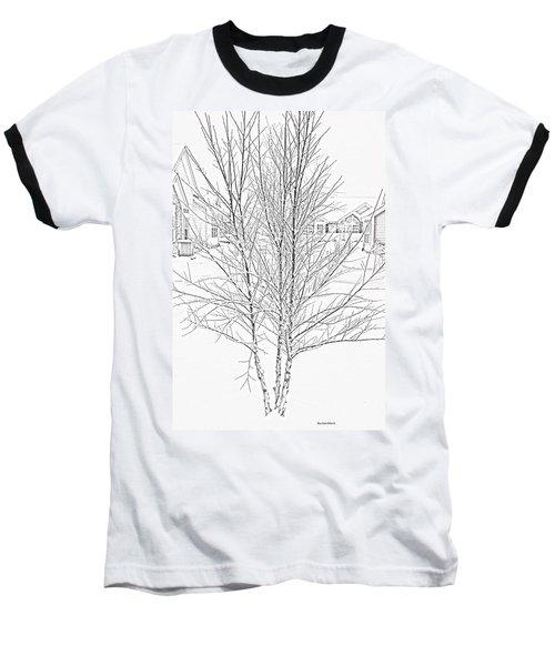 Bare Naked Tree Baseball T-Shirt