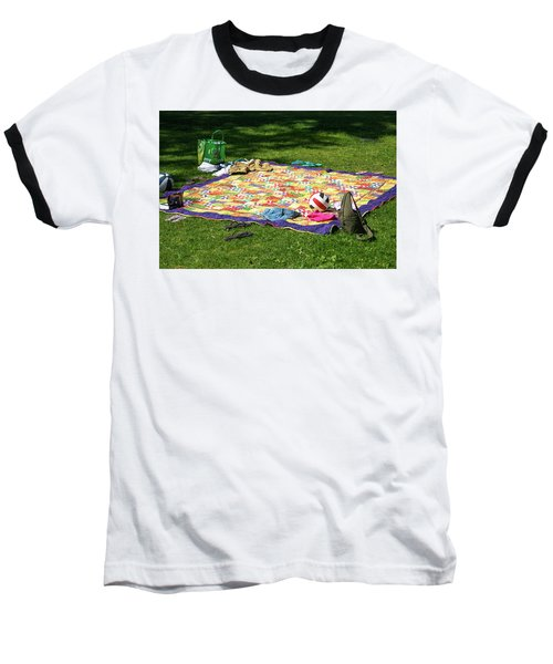Barefoot In The Grass Baseball T-Shirt