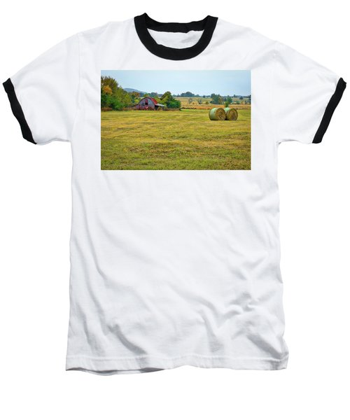 Barn And Field Baseball T-Shirt