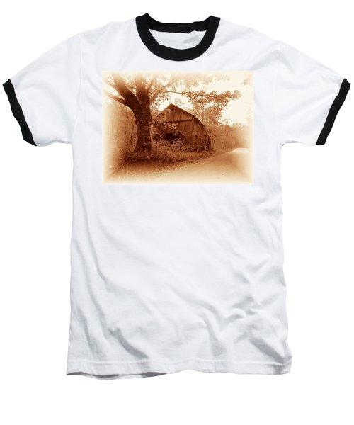 Barn Hocking Co Ohio Sepia Baseball T-Shirt