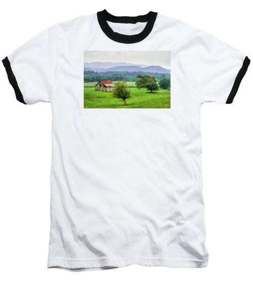 Barn In Smokies 2 Baseball T-Shirt