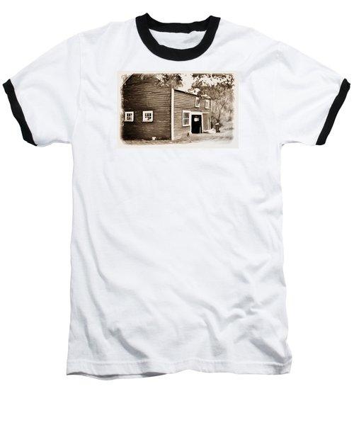 Barn In The Woods Baseball T-Shirt by Rena Trepanier