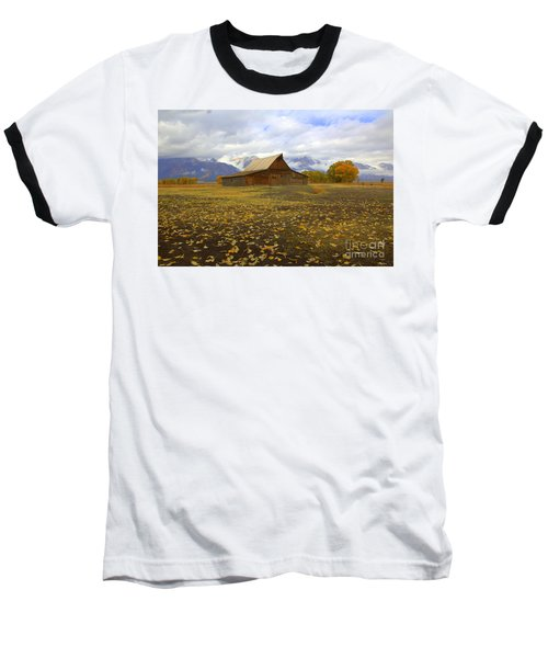 Barn On Mormon Row Utah Baseball T-Shirt