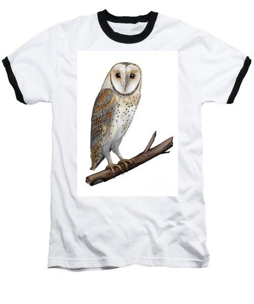 Barn Owl Screech Owl Tyto Alba - Effraie Des Clochers- Lechuza Comun- Tornuggla - Nationalpark Eifel Baseball T-Shirt