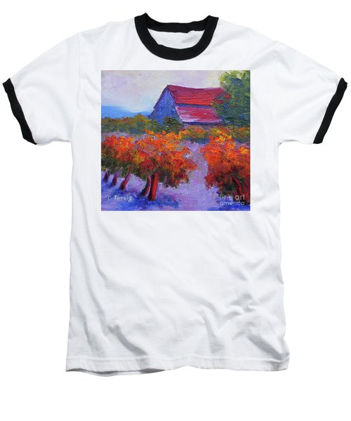 Barn Vineyard Autumn Baseball T-Shirt