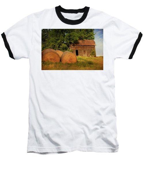 Barn With Haybales Baseball T-Shirt