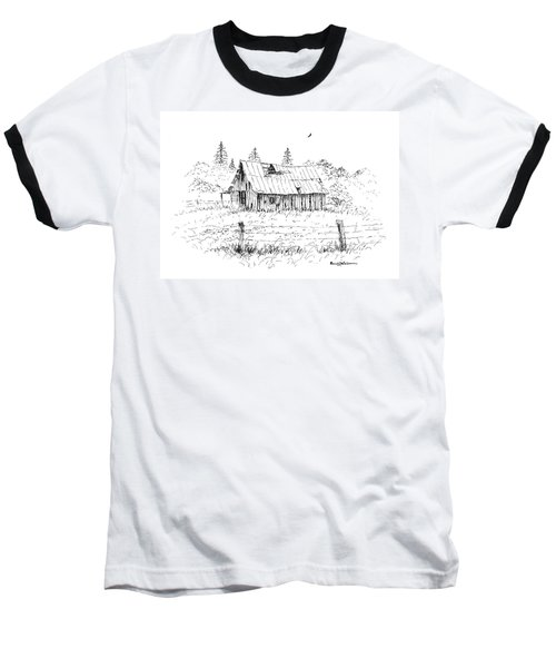 Barn With Skylight Baseball T-Shirt