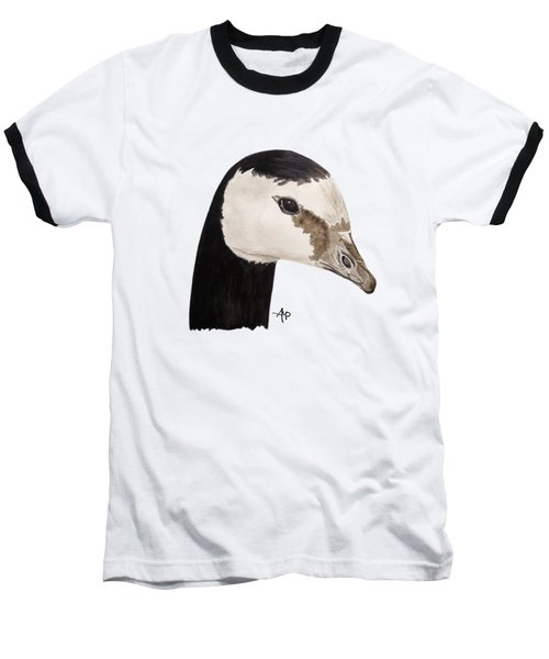 Barnacle Goose Portrait Baseball T-Shirt by Angeles M Pomata