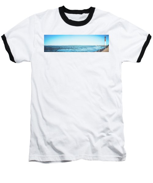 Barnegat Light Panorama Baseball T-Shirt