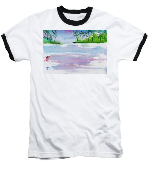Gum Trees Frame The Sunset At Barnes Bay Baseball T-Shirt