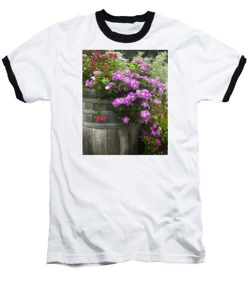Barrel Of Flowers Baseball T-Shirt