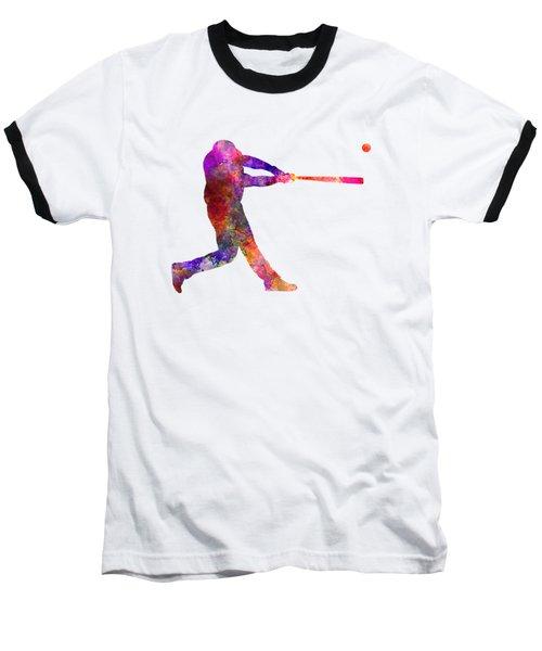 Baseball Player Hitting A Ball 01 Baseball T-Shirt