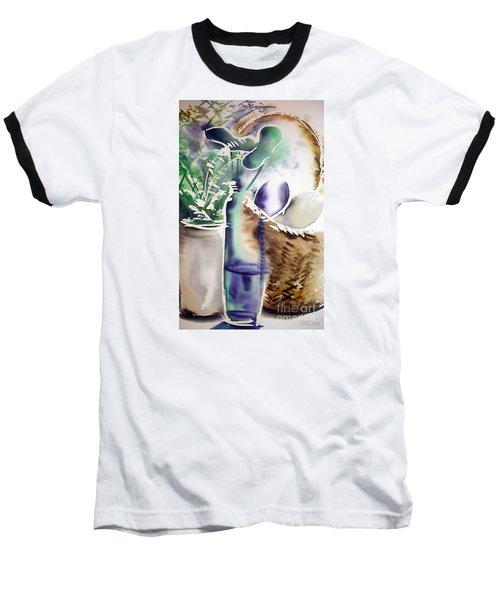Basket And Bottle Baseball T-Shirt by Allison Ashton