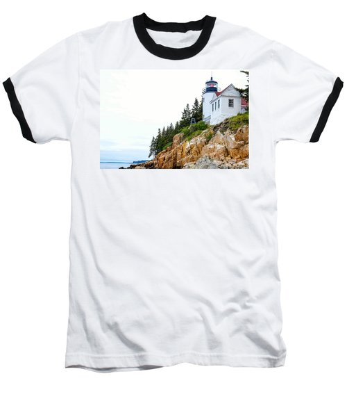 Bass Harbor Head Lighthouse 2 Baseball T-Shirt
