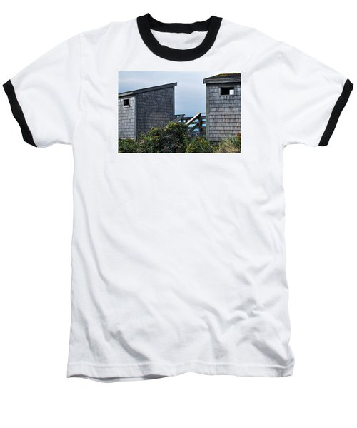 Bath Houses At Nobska Beach Baseball T-Shirt