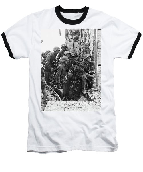 Battle Of Stalingrad  Nazi Infantry Street Fighting 1942 Baseball T-Shirt