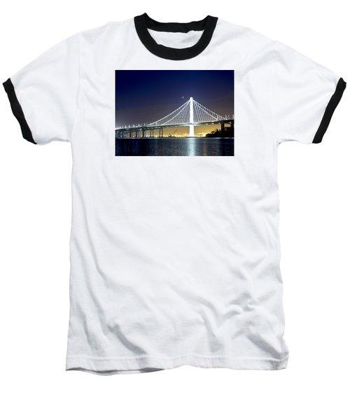 Bay Bridge Under A Blood Moon Baseball T-Shirt