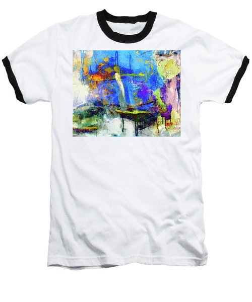 Baseball T-Shirt featuring the painting Bayou Teche by Dominic Piperata