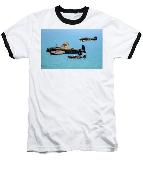 Bbmf Eastbourne Beachy Head Flypast Baseball T-Shirt by Ken Brannen