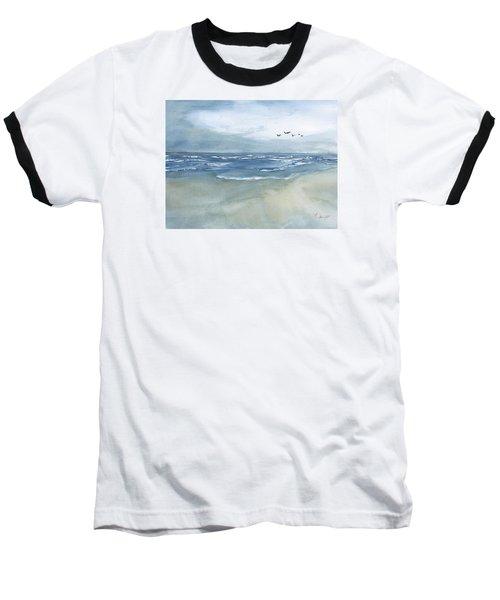 Beach Blue Baseball T-Shirt by Frank Bright