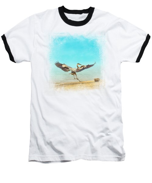 Beach Dancing Baseball T-Shirt by Jai Johnson