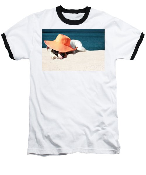 Baseball T-Shirt featuring the photograph Beach Day For Bubba by Shelley Neff