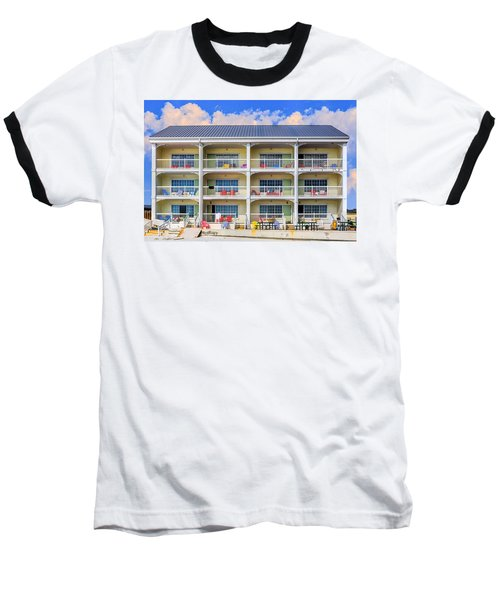 Beach Front Hotel Baseball T-Shirt