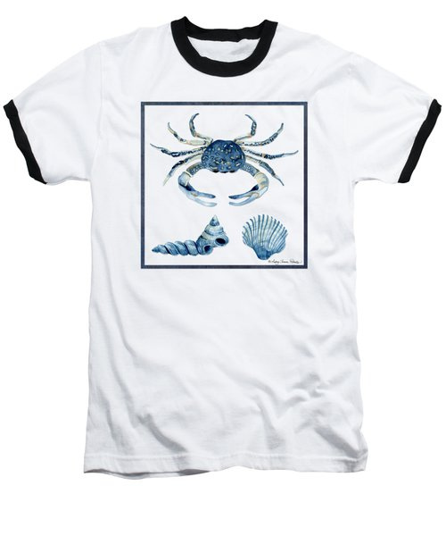 Beach House Sea Life Crab Turban Shell N Scallop Baseball T-Shirt