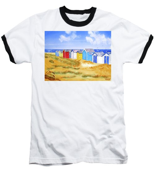 Beach Huts Baseball T-Shirt