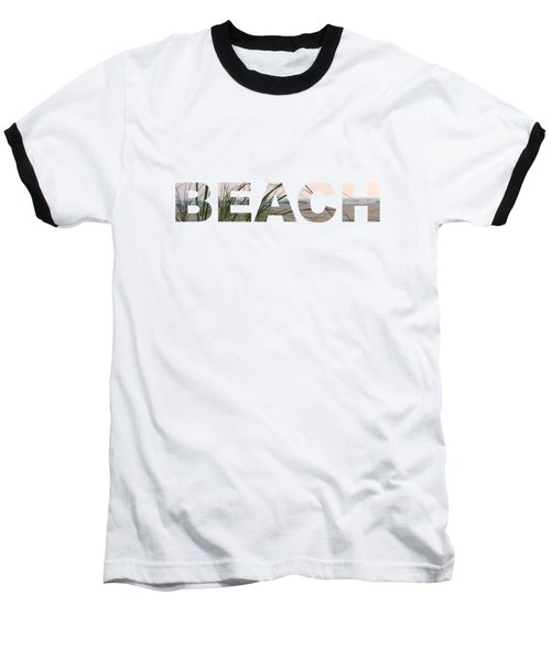 Beach Baseball T-Shirt by Laura Kinker