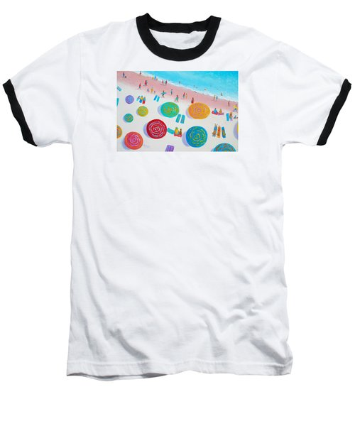 Beach Painting - A Walk In The Sun Baseball T-Shirt