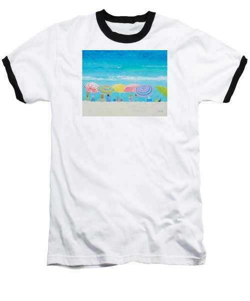 Beach Painting - Color Of Summer Baseball T-Shirt