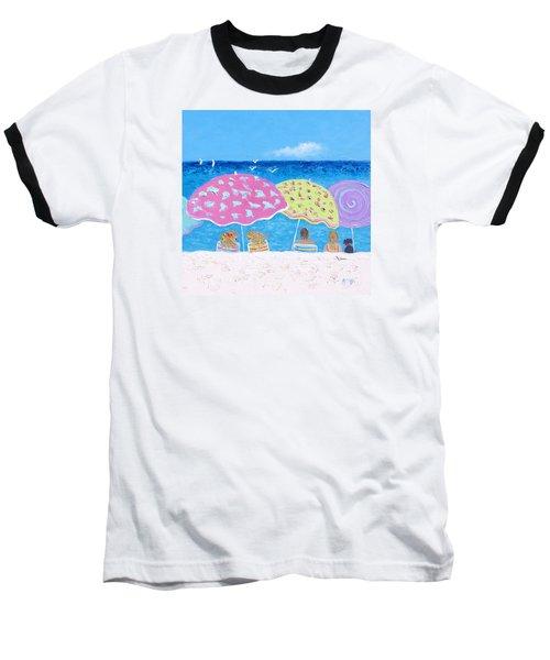 Beach Painting - Lazy Summer Days Baseball T-Shirt