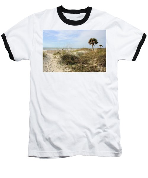 Beach Path Baseball T-Shirt by Angela Rath