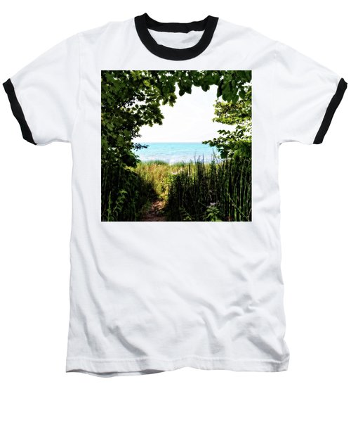 Baseball T-Shirt featuring the photograph Beach Path With Snake Grass by Michelle Calkins