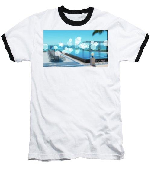 Baseball T-Shirt featuring the photograph Beach Resort Concept by Atiketta Sangasaeng