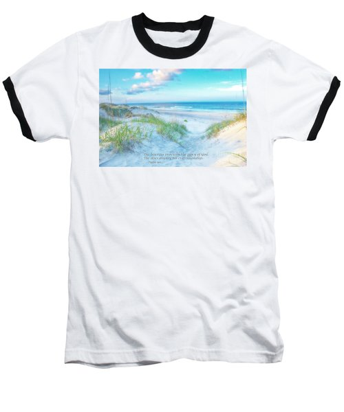 Beach Scripture Verse  Baseball T-Shirt by Randy Steele
