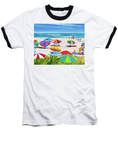 Umbrellas 2 Baseball T-Shirt by Anne Marie Brown