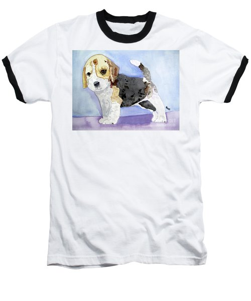 Beagle Pup Baseball T-Shirt by Sandy McIntire