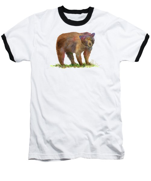 Bear Baseball T-Shirt by Amy Kirkpatrick